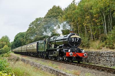 6024 'King Edward I' passing the site of Dowles Junction