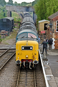 55022 'Royal Scots Grey' arriving at Williton