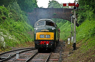 D832 'Onslaught' leads D7017 into Crowcombe Heathfield
