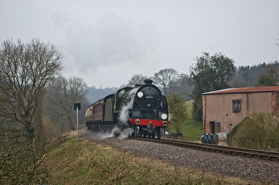 30777 'Sir Lamiel' approaching Roebuck Gate Crossing