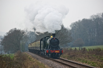 2807 approaching Leigh Wood Crossing