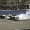 SEPTEMBER 15 2012  Ed Carpenter celebrates his win at Auto Club Speedway