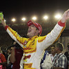 SEPTEMBER 15 2012 Ryan Hunter-Reay celebrates his Series Championship at Auto Club Speedway