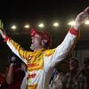 SEPTEMBER 15 2012 Ryan Hunter-Reay celebrates his Series Championship at Auto Club Speedway