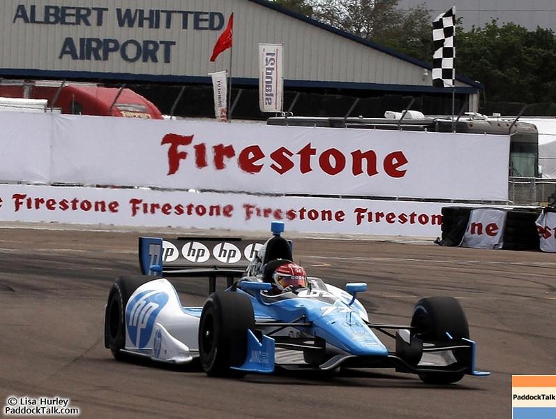 2012 IndyCar Saturday qualifying action from St Petersburg, Florida. Credit: PaddockTalk/Paul & Lisa Hurley