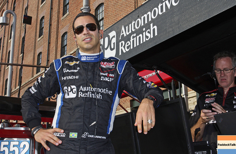 August 31: Helio Castroneves during qualifying for the Grand Prix of Baltimore.