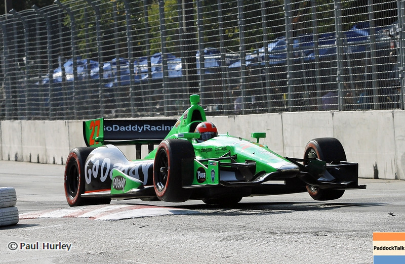 September 1: James Hinchcliffe during the Grand Prix of Baltimore IndyCar race.