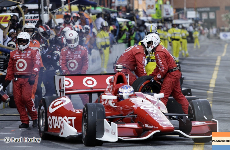 September 1: Scott Dixon pit stop during the Grand Prix of Baltimore IndyCar race.