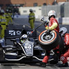 September 1: Dario Franchitti during the Grand Prix of Baltimore IndyCar race.