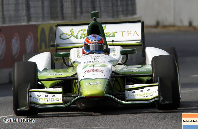 August 30: Stephan Wilson during IndyCar practice for the Grand Prix of Baltimore.