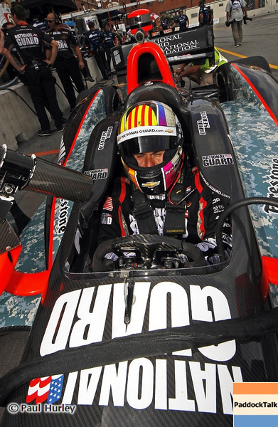August 30: Oriol Servia during IndyCar practice for the Grand Prix of Baltimore.