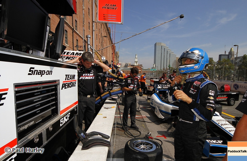 September 1: Helio Castroneves during the Grand Prix of Baltimore IndyCar race.
