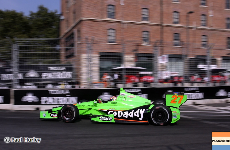 August 31: James Hinchcliffe during qualifying for the Grand Prix of Baltimore.