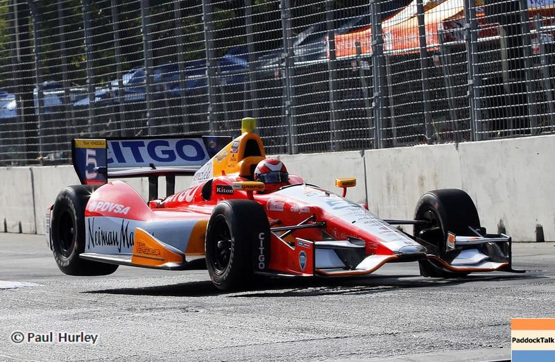 September 1: E. J. Viso during the Grand Prix of Baltimore IndyCar race.