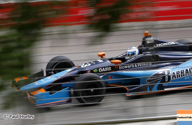 August 30: Luca Filippi during IndyCar practice for the Grand Prix of Baltimore.