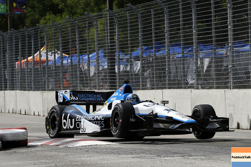 August 30: Graham Rahal during IndyCar practice for the Grand Prix of Baltimore.