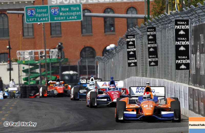 September 1: Race action during the Grand Prix of Baltimore IndyCar race.