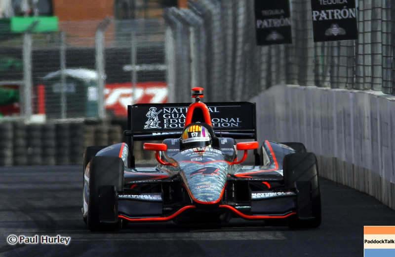 August 31: Oriol Servia during qualifying for the Grand Prix of Baltimore.