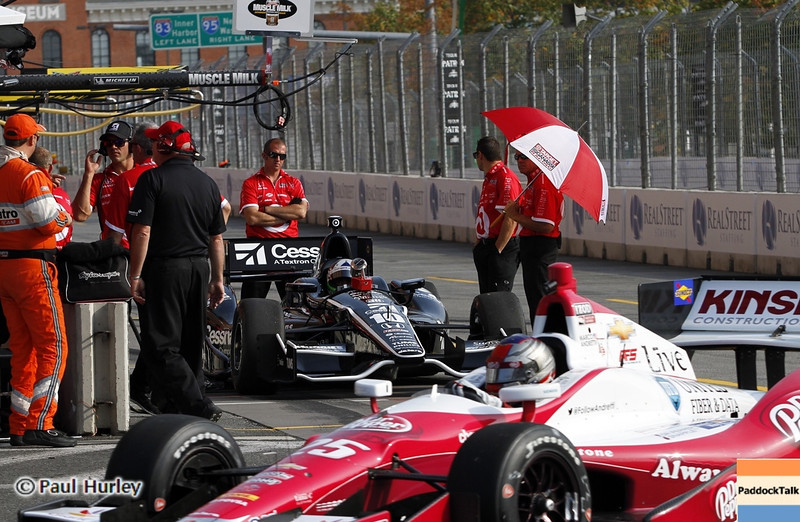 August 31: Pit out during qualifying for the Grand Prix of Baltimore.