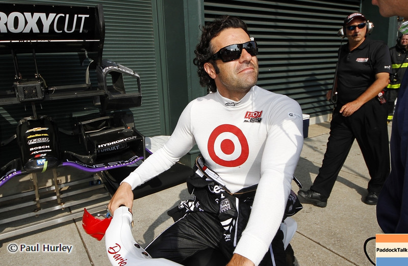 August 30: Dario Franchitti during IndyCar practice for the Grand Prix of Baltimore.