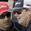 August 30: Tony Kanaan and Jimmy Vasser during IndyCar practice for the Grand Prix of Baltimore.