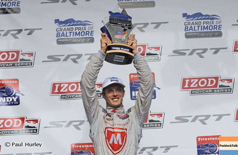 September 1: Sebastien Bourdais during the Grand Prix of Baltimore IndyCar race.