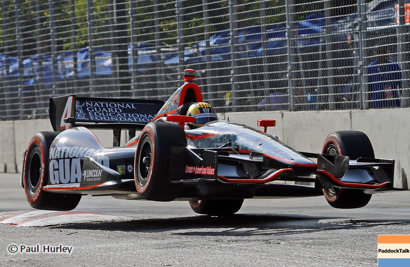 September 1: Oriol Servia during the Grand Prix of Baltimore IndyCar race.