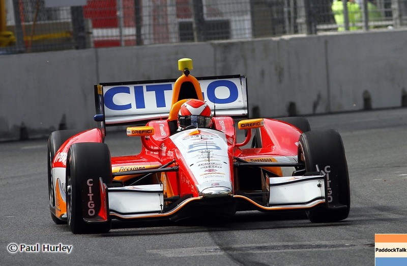 August 30: E.J. Viso during IndyCar practice for the Grand Prix of Baltimore.