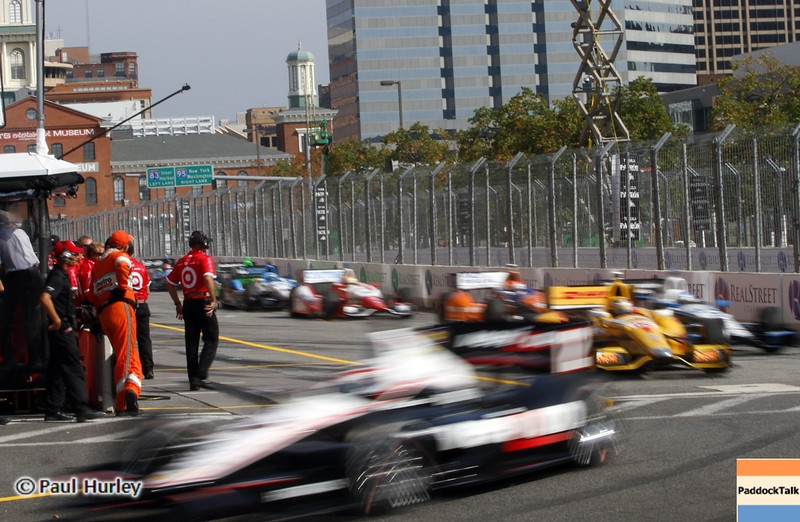 September 1: Pit out during the Grand Prix of Baltimore IndyCar race.