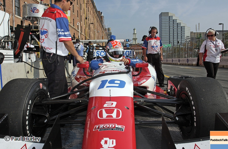 August 31: Justin Wilson during qualifying for the Grand Prix of Baltimore.