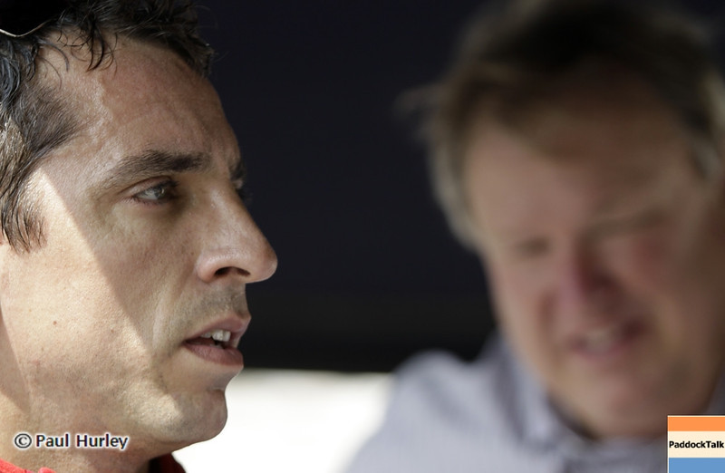 August 30: Justin Wilson and Dale Coyne during IndyCar practice for the Grand Prix of Baltimore.