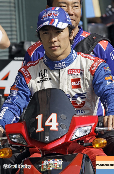 August 30: Takuma Sato during IndyCar practice for the Grand Prix of Baltimore.