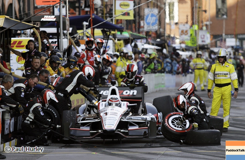 September 1: Will Power pit stop during the Grand Prix of Baltimore IndyCar race.