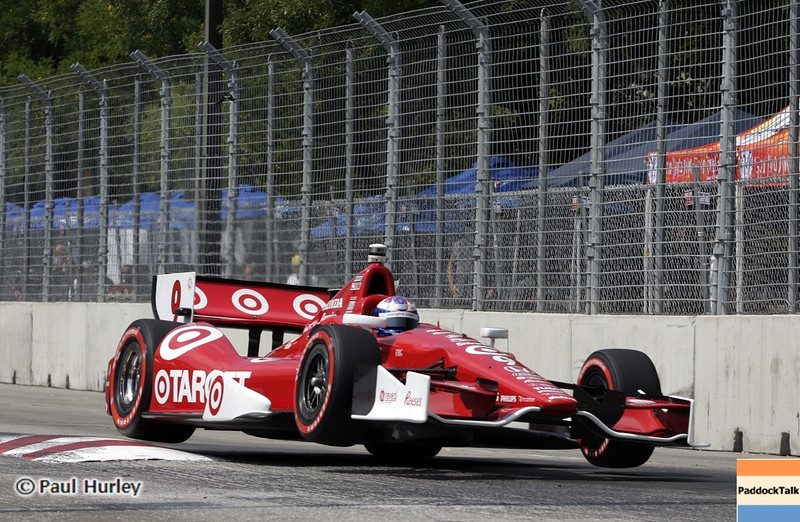 Scott Dixon on the tough Baltimore IndyCar street circuit.