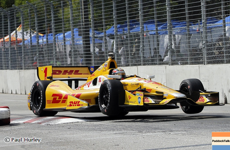 August 30: Ryan Hunter-Reay during IndyCar practice for the Grand Prix of Baltimore.