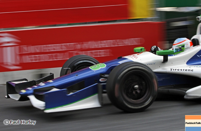 August 30: Simona de Silvestro during IndyCar practice for the Grand Prix of Baltimore.