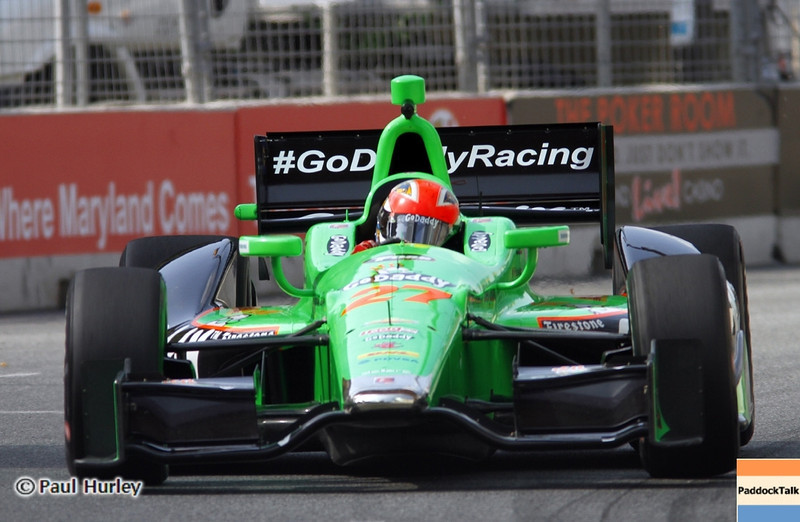 August 30: james Hinchcliffe during IndyCar practice for the Grand Prix of Baltimore.