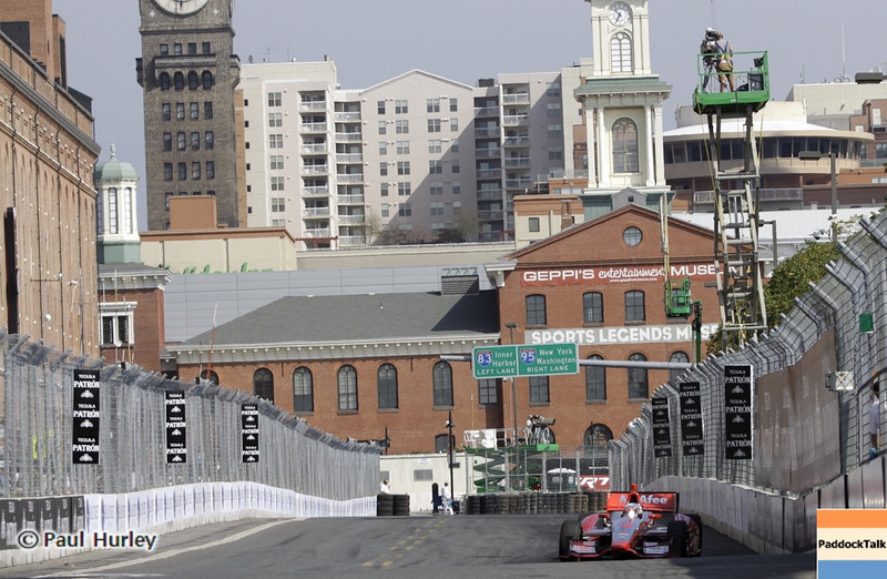 September 1: Track action during the Grand Prix of Baltimore IndyCar race.