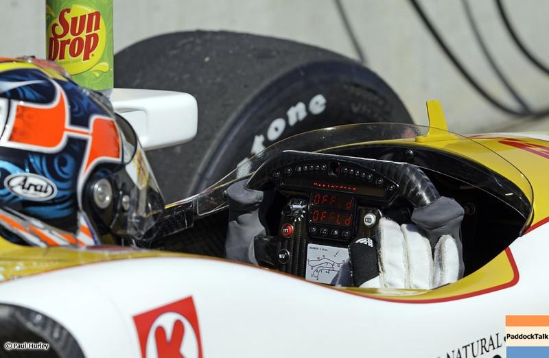 MARCH 12:Ryan Hunter-Reay at IndyCar Spring Training at Barber Motor Sports Park.
