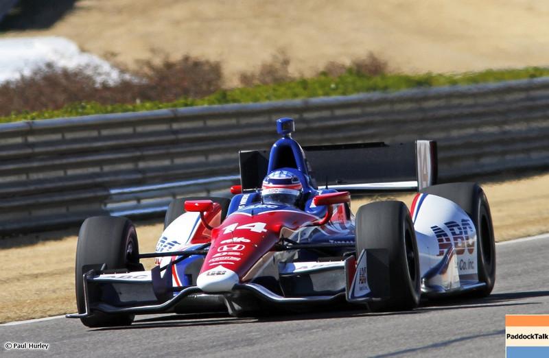March 13:Takuma Sato at IndyCar Spring Training at Barber Motor Sports Park.