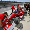 MARCH 12:Scott Dixon in the pits at IndyCar Spring Training at Barber Motor Sports Park.