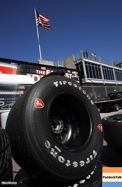 March 13:Firestone tires at IndyCar Spring Training at Barber Motor Sports Park.