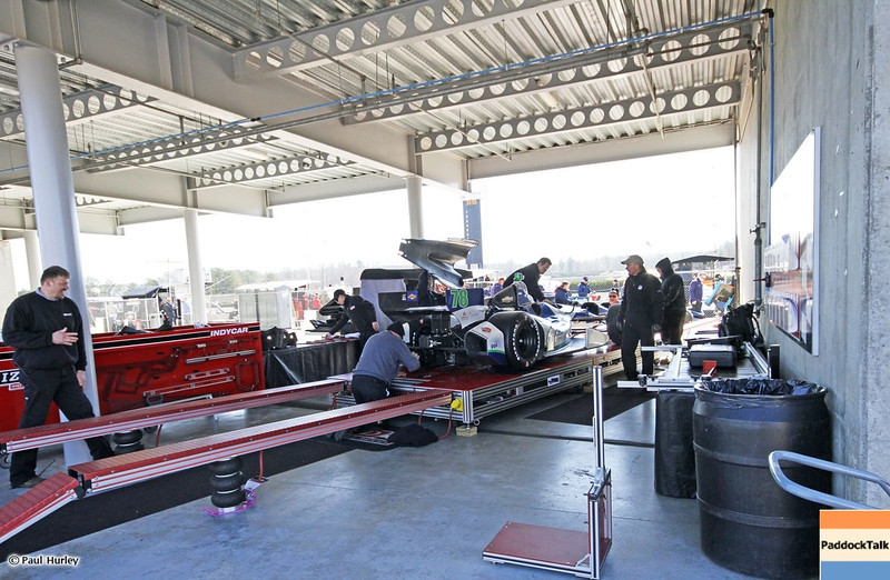 MARCH 12:Tech at IndyCar Spring Training at Barber Motor Sports Park.
