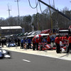 MARCH 12:Pit lane action at IndyCar Spring Training at Barber Motor Sports Park.
