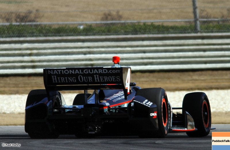 March 13:J.R. Hildebrand at IndyCar Spring Training at Barber Motor Sports Park.