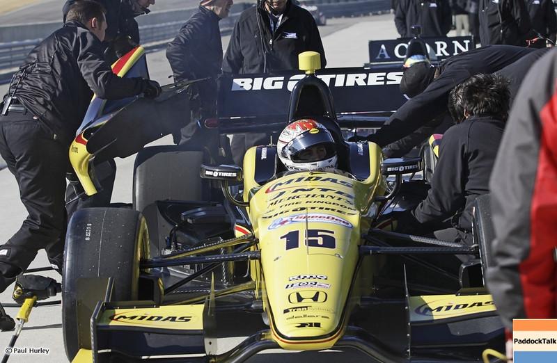 MARCH 12:Graham Rahal at IndyCar Spring Training at Barber Motor Sports Park.