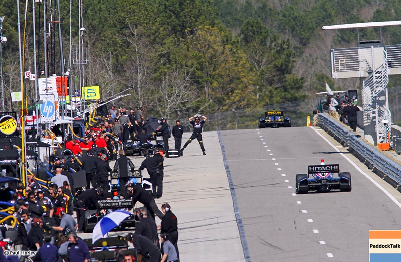 MARCH 12:Pit lane action at IndyCar Spring Training at Barber Motor Sports Park.
