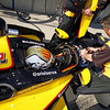 MARCH 12:Oriol Servia at IndyCar Spring Training at Barber Motor Sports Park.