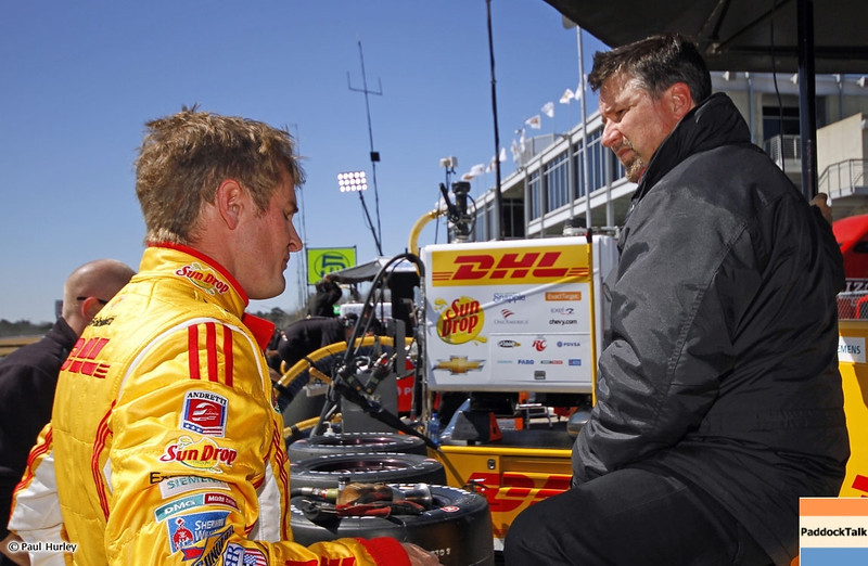 MARCH 12:Ryan Hunter-Reay Michael Andretti at IndyCar Spring Training at Barber Motor Sports Park.