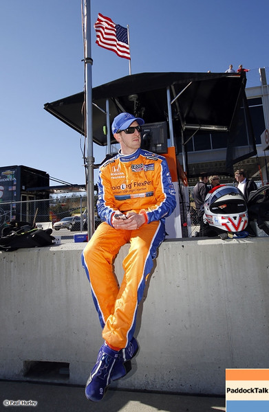 MARCH 12:Charlie Kimball  at IndyCar Spring Training at Barber Motor Sports Park.